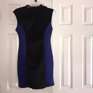 Body Con Black and Blue Dress
